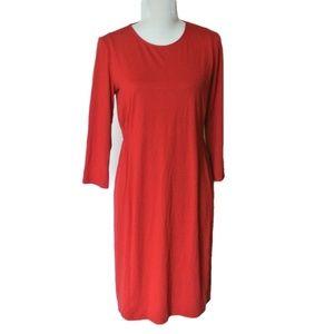 J Jill Wearever Collection  Red Dress S